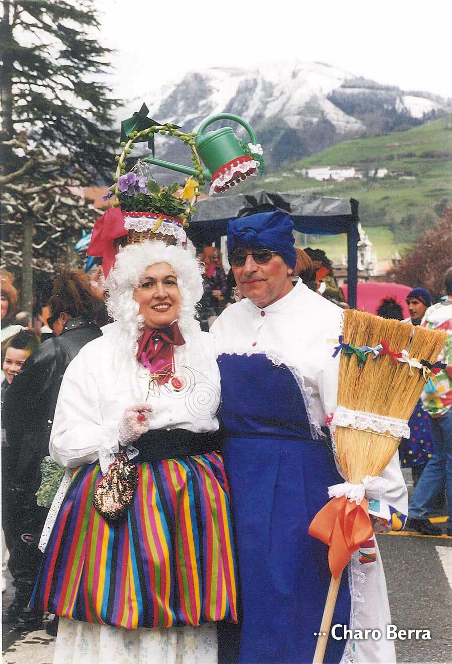 Charo Berra junto a su marido