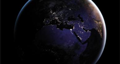 Iluminación nocturna vista desde el espacio